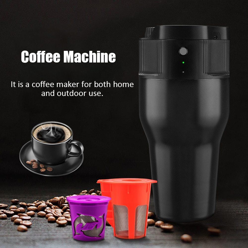 500 ML Mini Portable USB Machine à café électrique en plein air maison cafetière rapide brassage café avec tasse à Capsule pour voyage