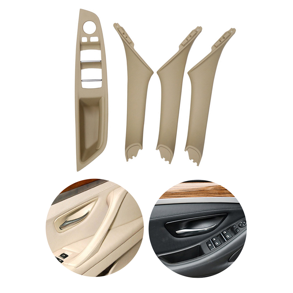 New 4Pcs Left Hand Drive For BMW 5 series F10 F11 F18 Beige Black Car Interior