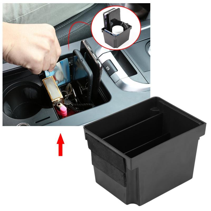 For Rangerover Velar 2017 ABS Black Central Control Cup Holder Storage Box Card Phone Tray