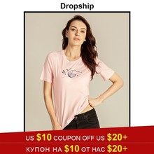 2d324d3a4ad Dropship T Shirt Women Camisetas Mujer Tee Shirt Femme Poleras De Mujer  Moda 2019 Harajuku Friends