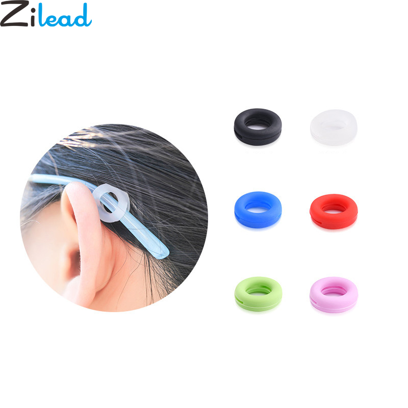 Zilead 2pcs/set Silicone Glasses Decompression Anti Slip Sleeve For Women&Men Candy Color Earmuffs Anti-slip Holder Retainer