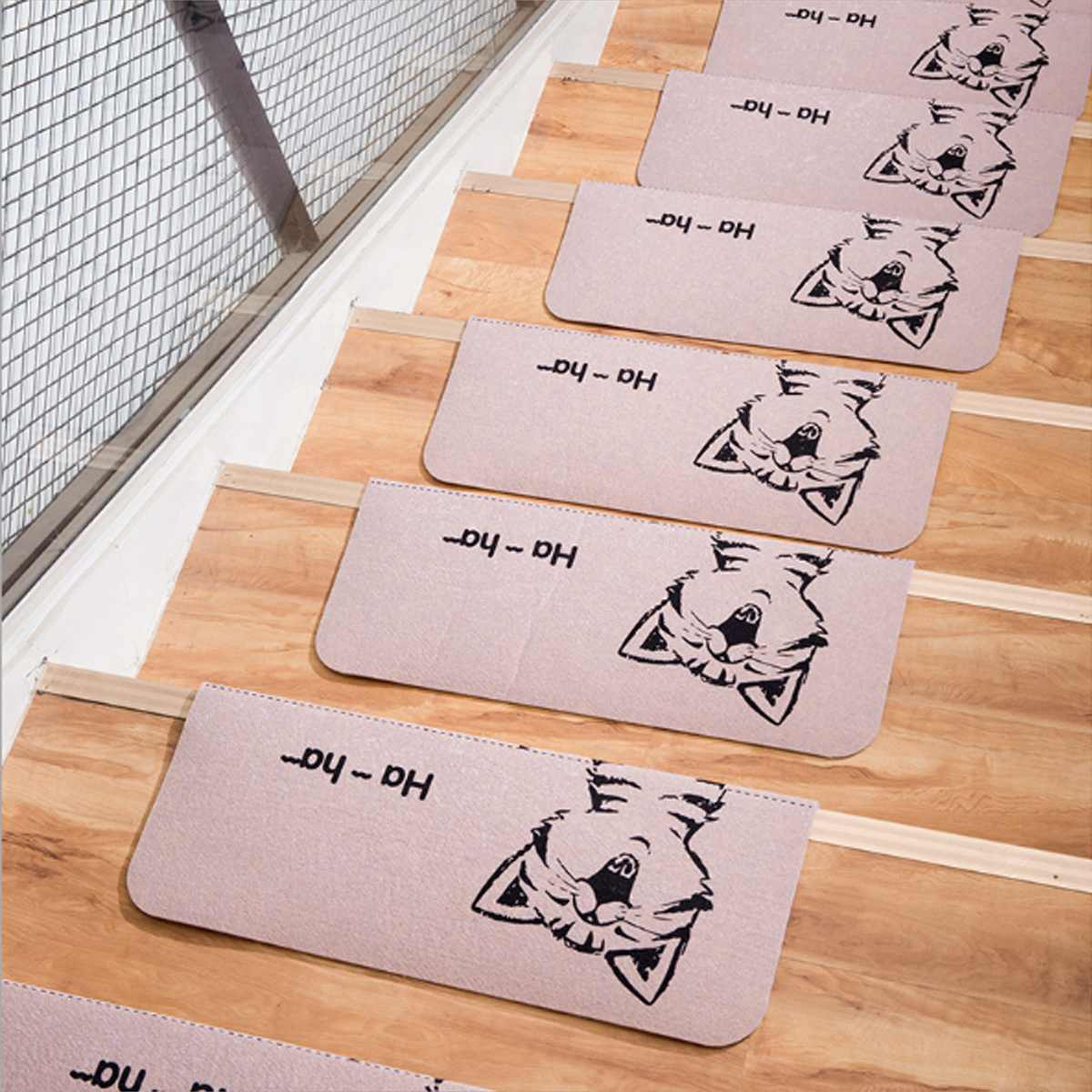 1/2/3/5pcs Washable Non-slip Stair Treads Self-adhesive Stair Mats Protector Rug Floor Staircase Carpets for Living Room