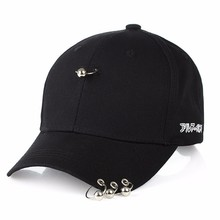2019 summer new big bang GD unisex solid ring Safety Pin curved Suede baseball cap men women snapback caps casquette gorras hip hop peaceminusone gd unisex solid curved hats baseball cap men women snapback caps sport casquette gorras