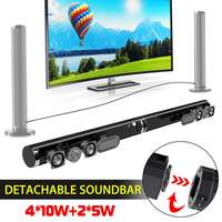 50W Detachable Wireless Bluetooth Soundbar Bass 3D Surround Stereo Speaker Wall Subwoofer for TV Home Theatre System Sound Bar