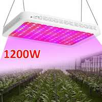 LED Grow Light 1200W Full Spectrum UV IR 120 LEDS Hydroponic Plant Veg Grow Light Indoor Fruit Flower Greenhouse Lamp Grow Box