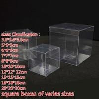 Varies Sizes PVC Model Transparent Hand Office Display Boxes Plastic Square Pvc Transparent Box Gift Box