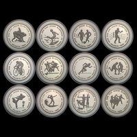 St Saint Thomas & Prince, 12 Pieces Coins, 1000 Dobras,1996, UNC, Collection, Gift, Atlanta Olympics, Real Genuine Coins,