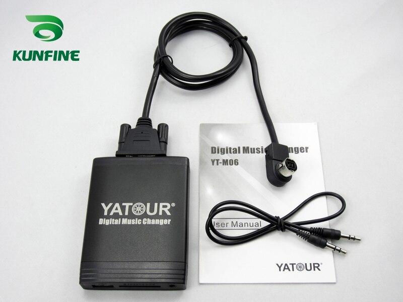 Adaptateur de changeur de musique numérique de voiture USB SD Aux MP3 Interface autoradio pour JVC Bluetooth téléphone moule et contrôleur en option