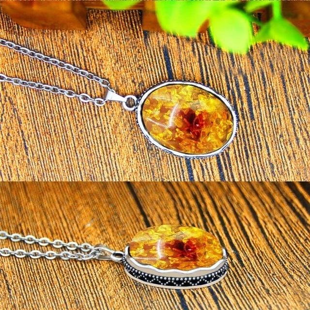 Oval Flor Aretes Collar de La Joyer a Para Las Mujeres de Plata Antigua Plate el