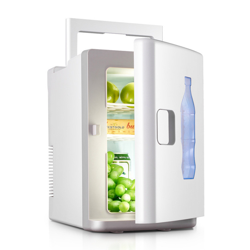 10L Mini Fridge Auto Portable Refrigerator Cooler Heater Small Freezer Car Home Daul-Use White Summer Storage Icebox With Handle
