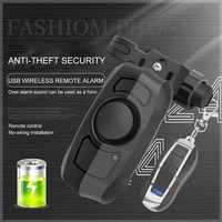 2019 Update 110dB USB Rechargeable Wireless Anti-Theft Vibration Motorcycle Bike Bicycle Security Lock Alarm With Remote Control