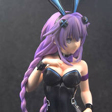 43cn Newest Anime Game Hyperdimension Neptunia Model Toy Figure Purple Heart Bunny Ver. Sexy Girls PVC Action Figures Toys Gifts цена