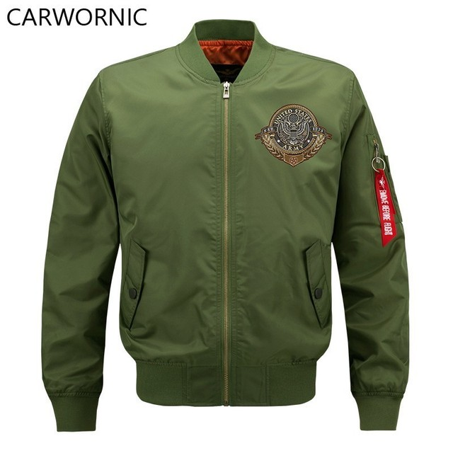 CARWORNIC US Army Tactical Bomber Jacket Men Winter Warm Military Pilot Air Force Jacket Coat Casual Windproof Motorcycle Jacket