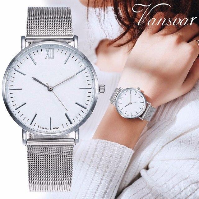 נשים כסף & רוז זהב נירוסטה רומא חיוג שעון יוקרה גבירותיי קוורץ שעון Relogio Feminino Dropshipping