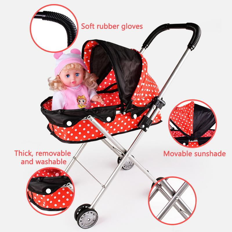 Mother & Kids Reliable Doll Stroller Baby Stroller Trolley Nursery Furniture Toys Doll Trolley Toy Simulated Stroller For Indoor Outdoor Use Baby Stroller