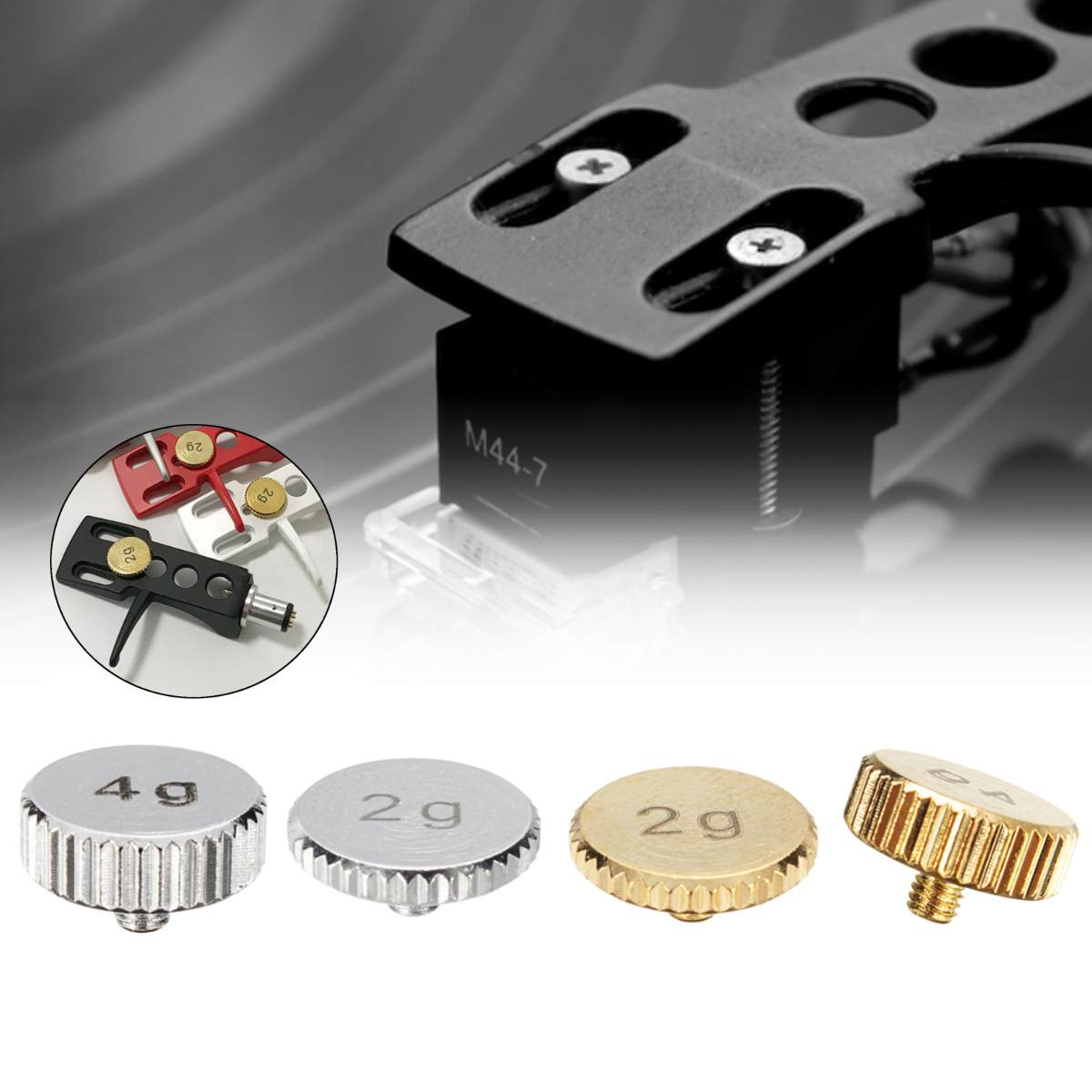 2/4g Sliver Gold Shell Weight Headshell For Technics SL1200 SL1210 MK 2 3 5 M5G Turntabable Metal Electric Instrument Parts