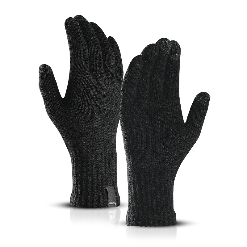LESOV Woolen Touch Screen Gloves for Men with Highly Sensitive Conductive Fiber on Thumb and Index Finger Works with All Touch Screen Device 3