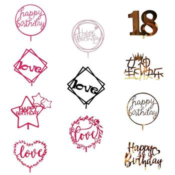 Happy Birthday Cake Topper Food Safe Acrylic Cupcake Topper Birthday Cake Supplies Party Event Decorations