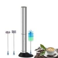 Aço inoxidável elétrico handheld leite espuma batedor misturador batedor ovo máquina de café liquidificador agitador automático cozinha agitar para