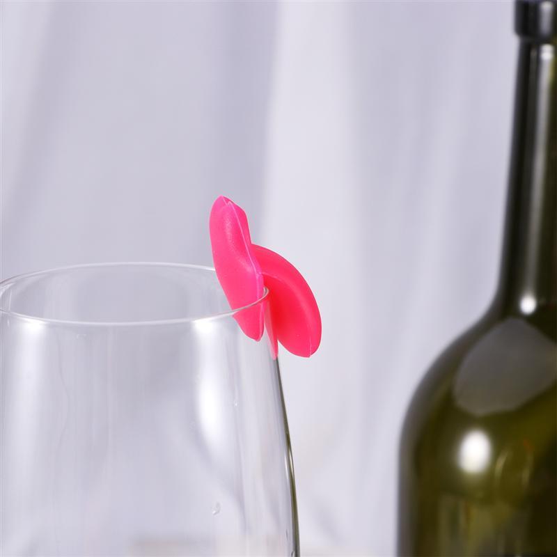 6 шт силиконовый красный маркер на стакан для вина креативный красный с наклейками в виде губ присоска маркировка стекло идентификация идеально подходит для вечеринок