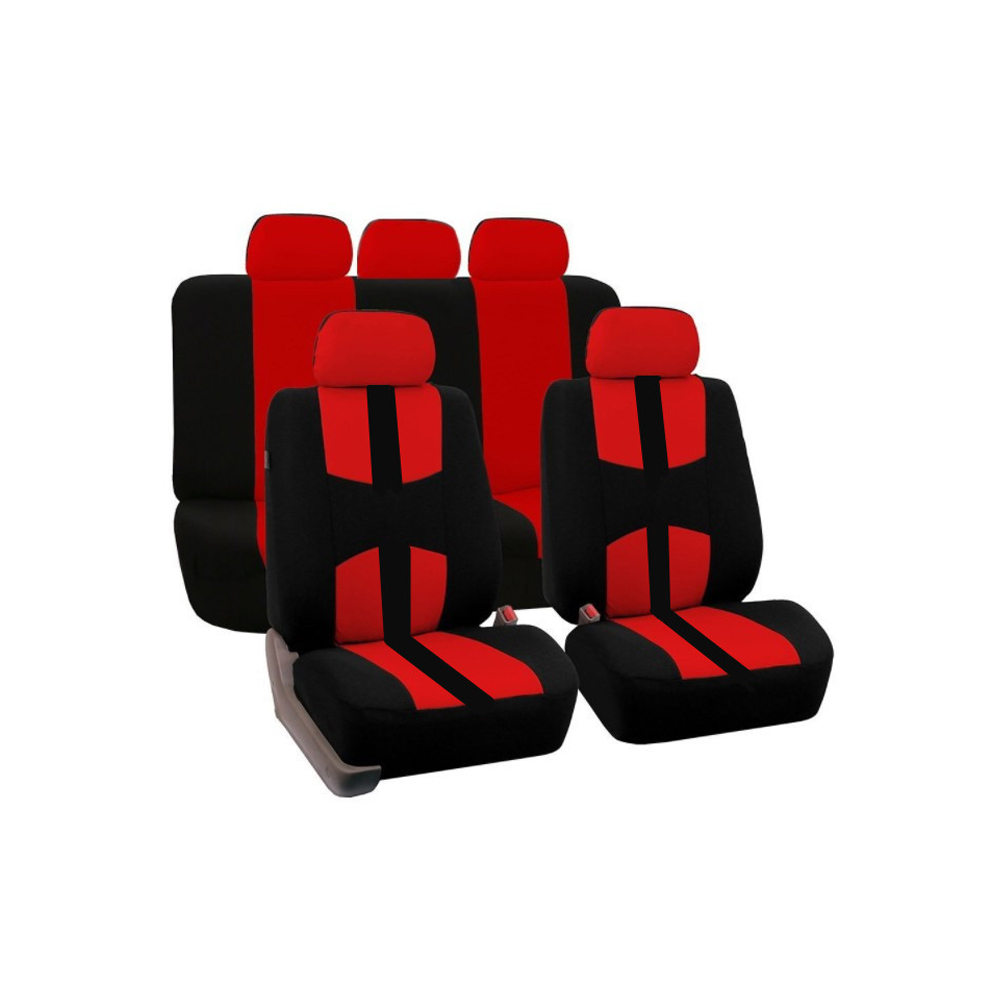 9pcs Set Rear Front Car Seat Cover Universal Automobiles Seat Covers Protector Polyester Four Seasons