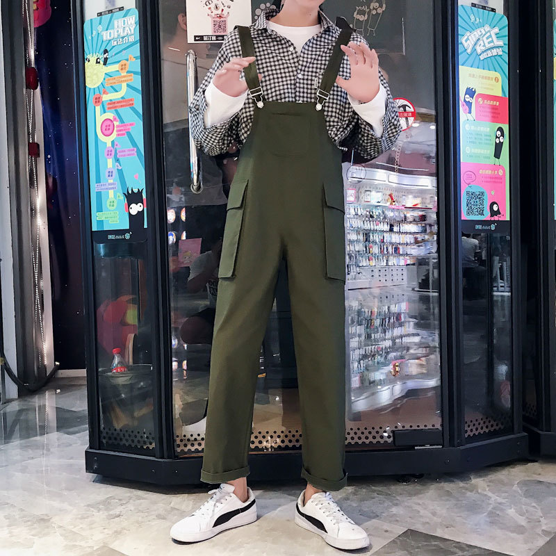 2019 Summer Men Casual Jumpsuit Man Multi-pocket Hip Hop Overalls Male Suspenders Wide Leg Bib Pants Rompers A9234 Do You Want To Buy Some Chinese Native Produce? Pants Overalls