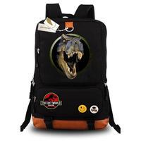 Jurassic Park casual backpack teenagers Men women's Kids Student School Bags Laptop Bags bookbag travel Shoulder Bag