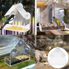 Модная практичная акриловая прозрачная птица, белка лоток подачи скворечник окно присоска инструменты легко установить