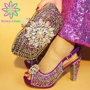 Image 3 - Son Sarı Renk ile İtalyan Ayakkabı uyumlu çanta Afrika Kadınlar için İtalyan Ayakkabı ve çanta seti Nijeryalı Kadınlar Düğün Ayakkabı ve Çanta
