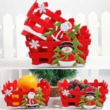 Новые рождественские конфеты корзина для хранения фруктов контейнер коробка Рождественские украшения для дома подарки 2 стиля