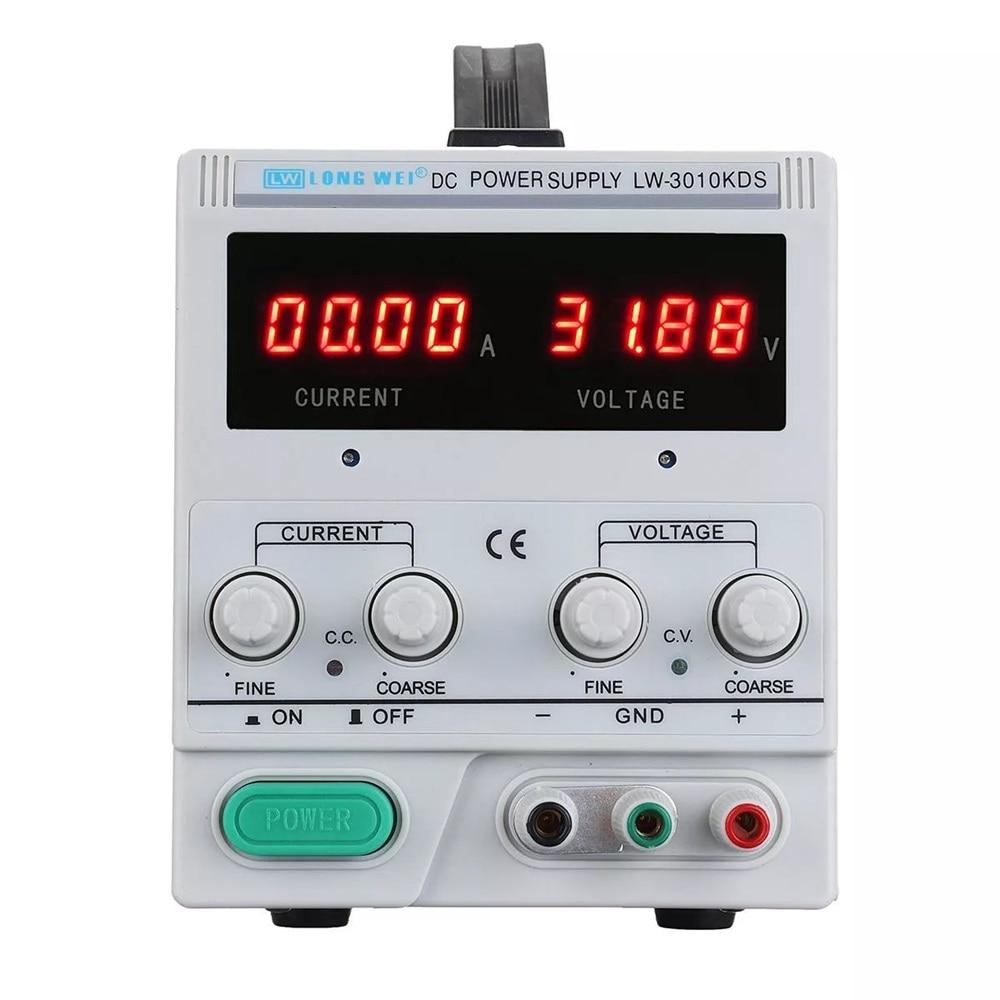 LONG WEI LW 3010KDS Adjustable LED Digital Display DC Power Supply 110V 220V 0 30V 0