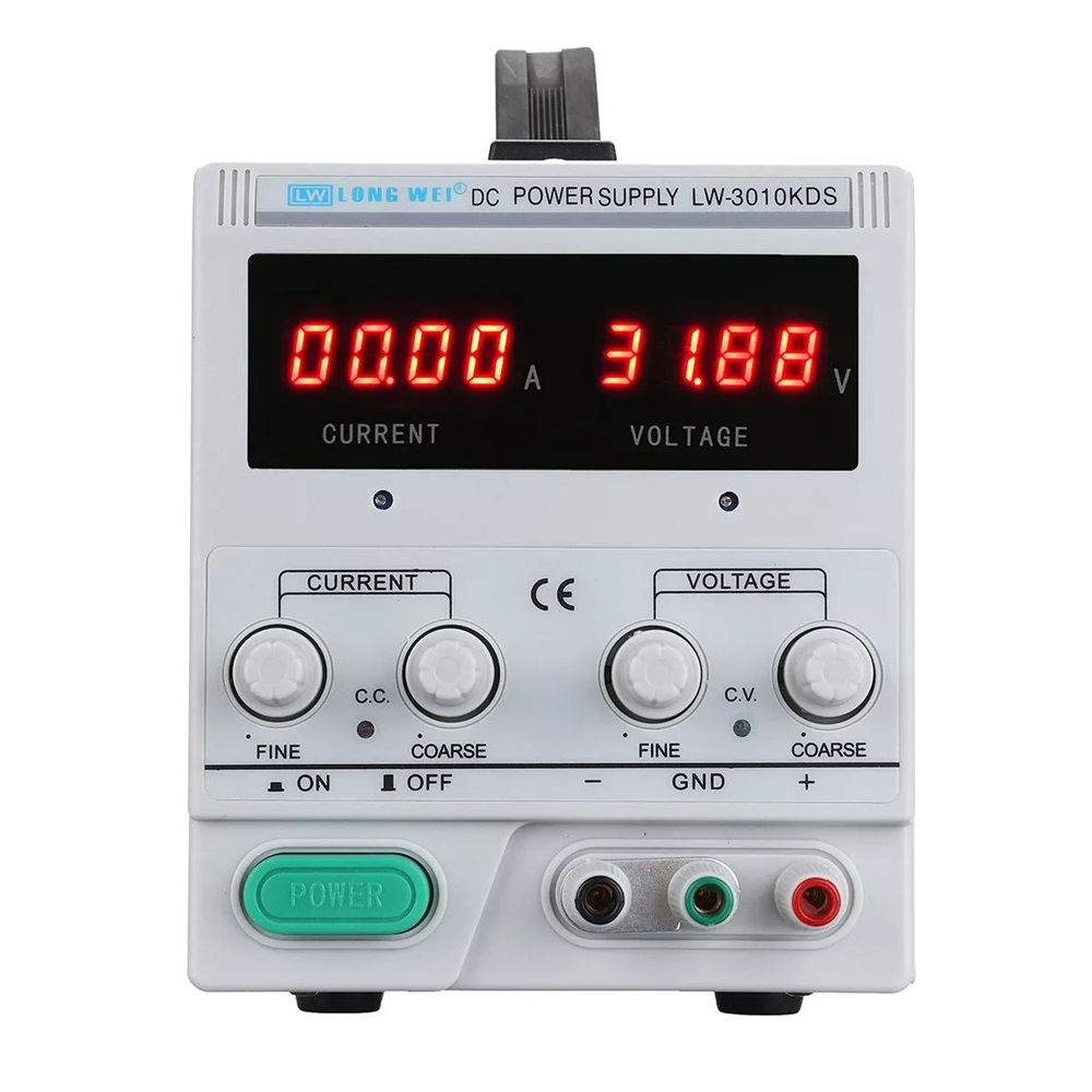 LONG WEI LW-3010KDS Adjustable LED Digital Display DC Power Supply 110V/220V 0-30V 0-10A Switching Regulated Power SupplyLONG WEI LW-3010KDS Adjustable LED Digital Display DC Power Supply 110V/220V 0-30V 0-10A Switching Regulated Power Supply