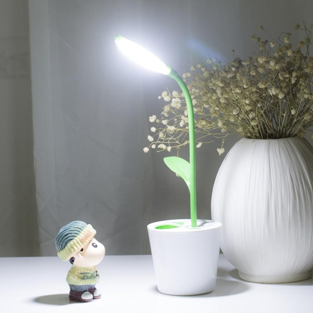 Lampe de bureau Led Rechargeable Dimmable avec Base de Pot de brosse interrupteur tactile Flexo Protection des yeux lecture Usb lampes de table Led 5 couleurs