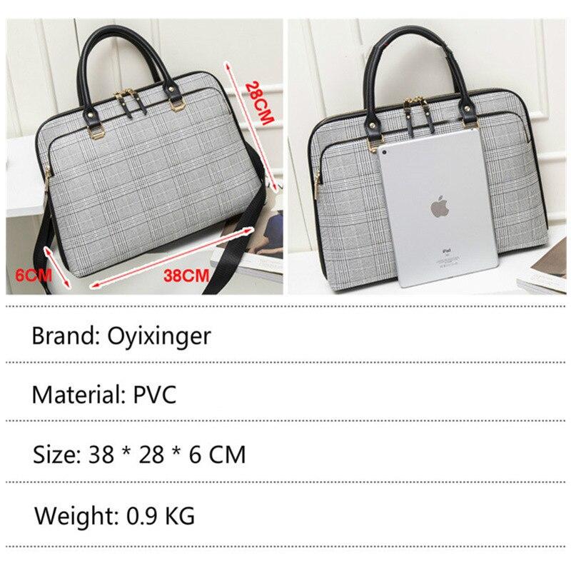 2019 femmes mallette d'affaires sac femme en cuir ordinateur portable 14 pouces sac à main de travail sac de bureau dames sacs à bandoulière pour femmes sacs à main - 5
