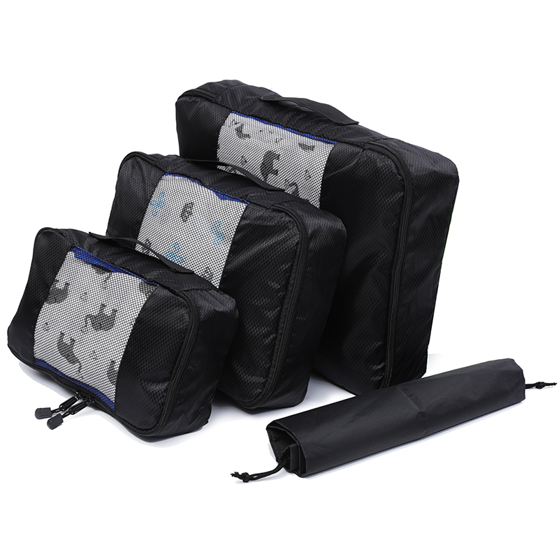 Foldable/Nylon/Male/Women Travel Bag Organizer/Hand Luggage/ Large Capacity/Waterproof/Compression Packing Cube Double Zip/3 Set