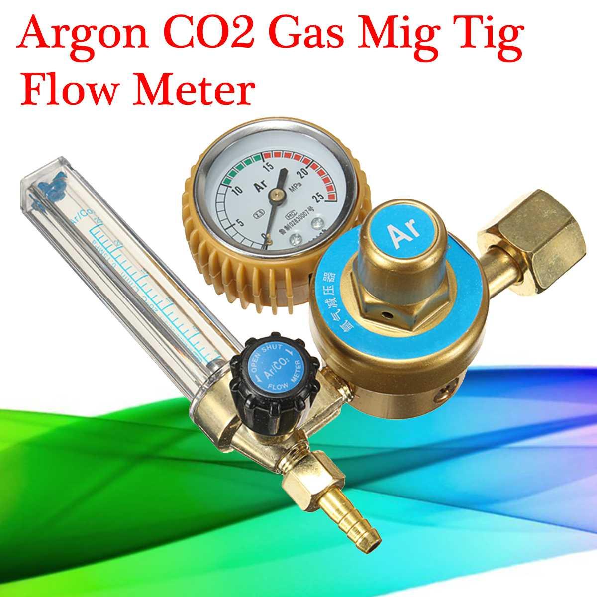 Metal & Rubber Argon CO2 Gas Mig Tig Flow Meter Regulator Welding Weld Gauge Safety Valve Durable Quality