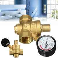 """Reductor regulador de presión de agua de latón DN20 NPT 3/4 """"ajustable con medidor de calibre PN 1,6 para la estabilidad hidráulica/agua purificador de"""