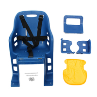 New Hot Kids Safety Cycling Seat Back Seat Mat Child Bicycle Saddle Traveling Bike Chair With Cushion Armrest Rear Footrest