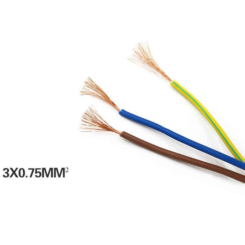 1.5 メートル Eu Ac 電源アダプタコードケーブル耐久 3 極リード充電ラインワイヤレスオリジナル品質デスクトップラップトップ、 Eu