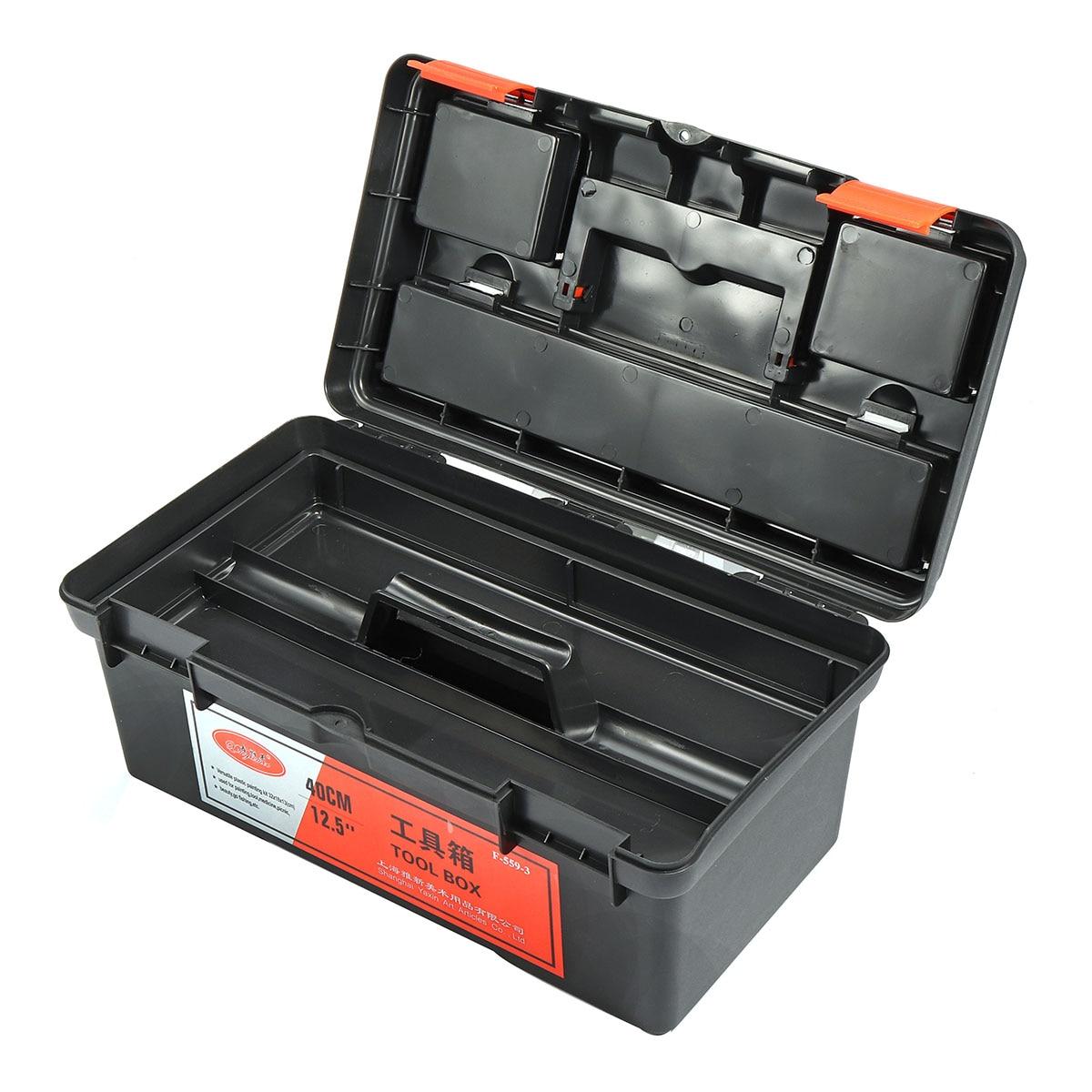 Large Plastic Carry Tool Box Storage Case Hardware Kit Handle Organizer Toolbox