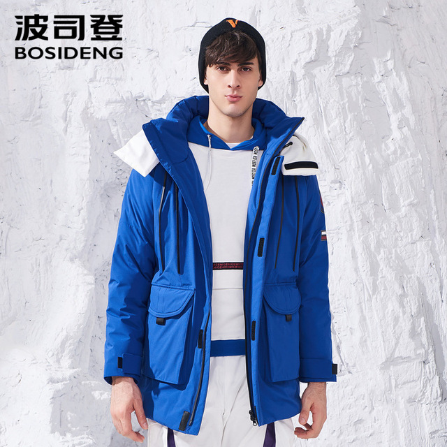 46abbc9c577e2 BOSIDENG 2018 new winter duck down coat for men down jacket hooded fashion  thicken outwear sports