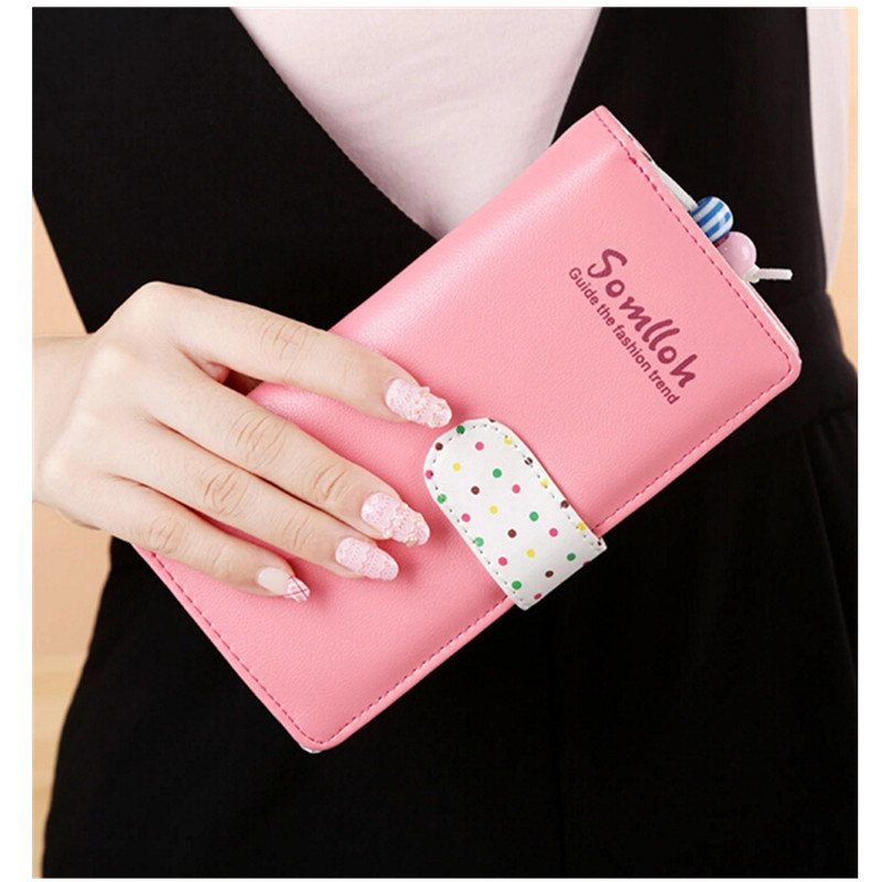 New 2019 Women Mobile Phone Handbag Long Wallet Large Capacity For IPhone 4 5 6 7 8 Xs Xr Max 4 Color Purses Hasp Dropshipping