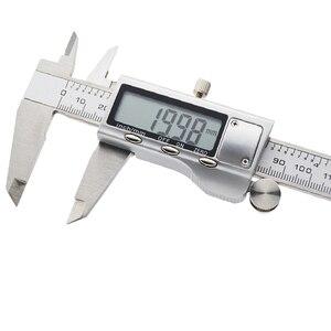 Image 2 - Kim Loại 150 Mm Thép Không Gỉ Điện Tử Kỹ Thuật Số Vernier Caliper Micromet Đo Đồng Hồ Đo Micromet 6 Inch Điện Tử Kẹp Phanh