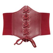 Women Corset Belt Stretchy Elastic Wide belts ladies elegant retro brand design elastic gothic Cincher Waistband Plus Size S-3XL