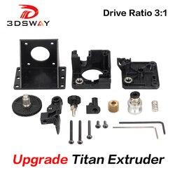 3 dsway 3d impressora peças titan extrusora totalmente kits para v6 j-cabeça bowden suporte de montagem 1.75mm filamento e3d v6 hotend 3:1 relação