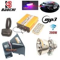 Беспроводной! Автосигнализация с клаксон полицейская сирена 200 Вт USB MP3 будильник с аварийным сигналом Rmegaphone 12 тон Предупреждение звуковой м...