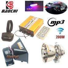купить Wireless Car Alarm Horn Police Siren 200W USB MP3 Alarm Horn Speaker Rmegaphone 12 Tone Warning Sound MIC Pa System Flash Light по цене 2327.75 рублей