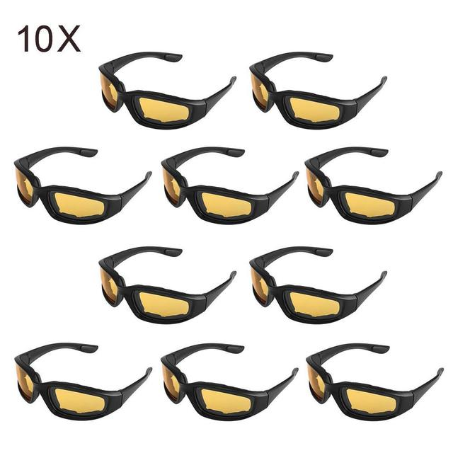 a23e8bfd94 10pcs Men Women Driving Motorcycle Glasses Bike Bicycle Sun Glasses  Windproof Riding Motor Goggles Cycling Outdoor Universal