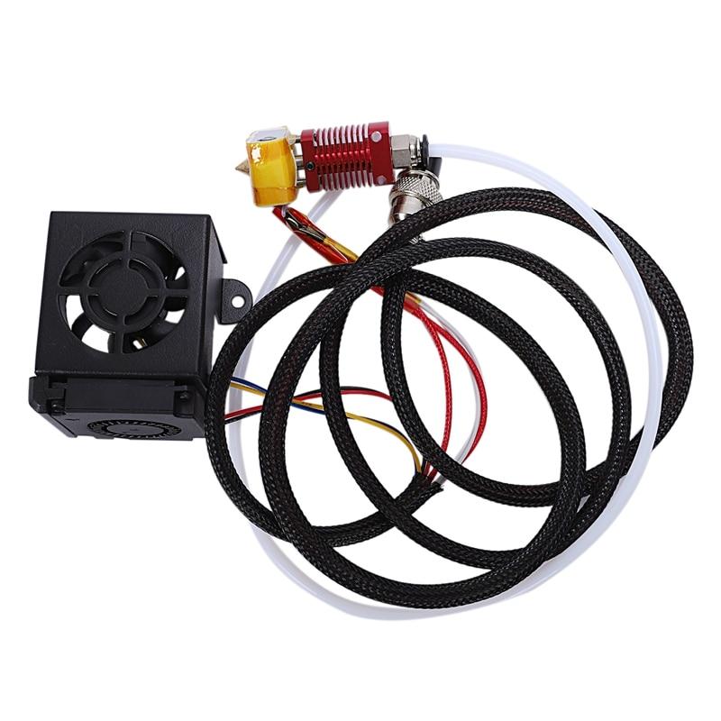 Accessoires d'imprimante 3D Cr10 Kit d'extrémité chaude Mk8 Kit d'extrémité chaude d'extrudeuse 1.75/0.4 Mm buse 12 V 40 W tuyau de chauffage 4010 ventilateur de refroidissement pour Cr