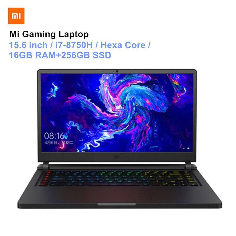 Xiao mi mi ga mi Ng computer portatili 15.6 ''Windows10 hexa core I7-8750H 16 Gb di ram 256 gb SSD 1 tb HDD Hexa Core Notebook PC Versione Aggiornata